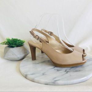 Jaclyn Smith | Nude Heel strap sandal heels
